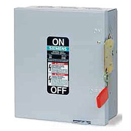 SIEMENS GNF324 200 Amp, 3 Pole, 240-Volt, 3 Wire, NON-Fused, General Duty, Indoor Rated (Siemens 200 Amp)
