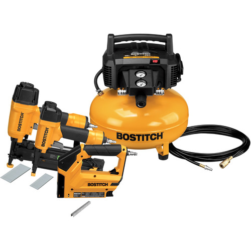Bostitch 3-Tool Nailer & Compressor Combo Kit by STANLEY BOSTITCH