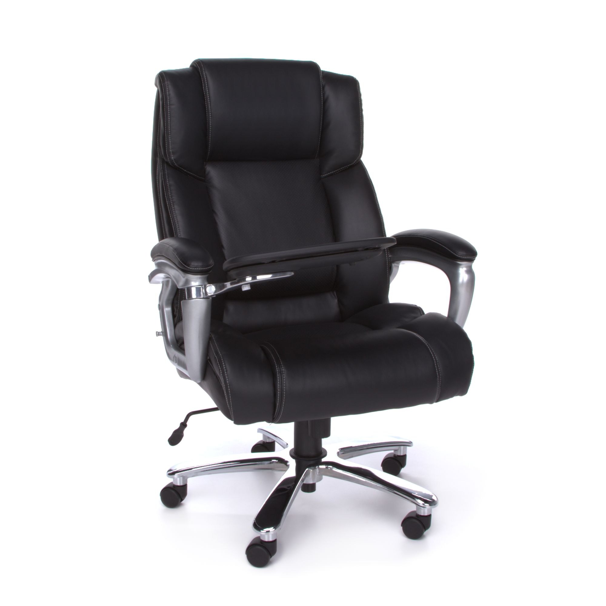 OFM Oro Series Model ORO200 Big & Tall Ergonomic Leather Executive Conference Room Chair with Tablet, Black