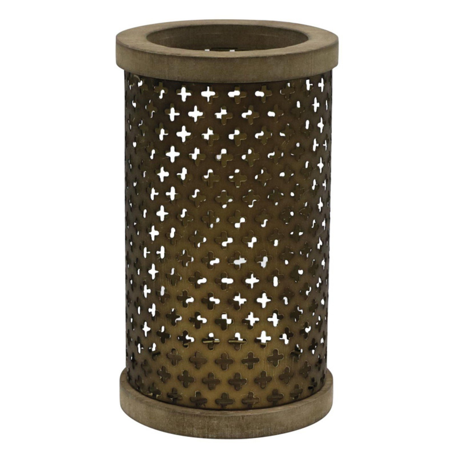 Foreside Home and Garden Cross Stamped Candle Holder - Walmart.com
