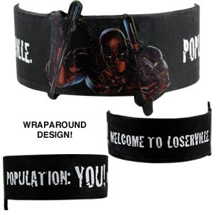Wristbands - Deadpool - Loserville Rubber Bracelet New rwb-mvl-0018](Deadpool Merchandise)