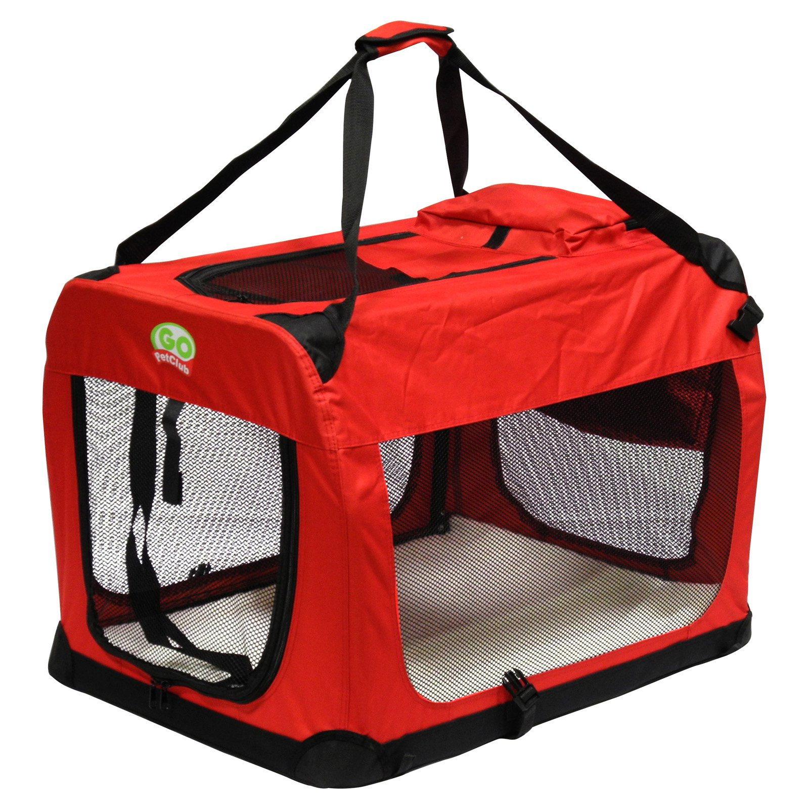 Automotive Pet Containment Barrier Kennel Dogs Carrier Petyoung Collapsible Travel Pet Tube Portable Breathable Car Kennel Crate