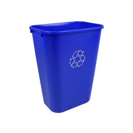Busch Systems 41 Quart Deskside Recycling & Waste Basket Indoor Bin - 10.25 G - Royal Blue - Mobius Loop - image 2 of 2
