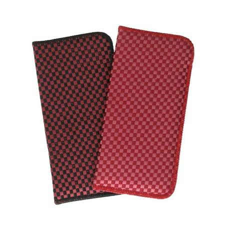 Soft Fabric Slip In Eyeglass Case, Medium, Tweed Fabric 2 Pack Assortment in