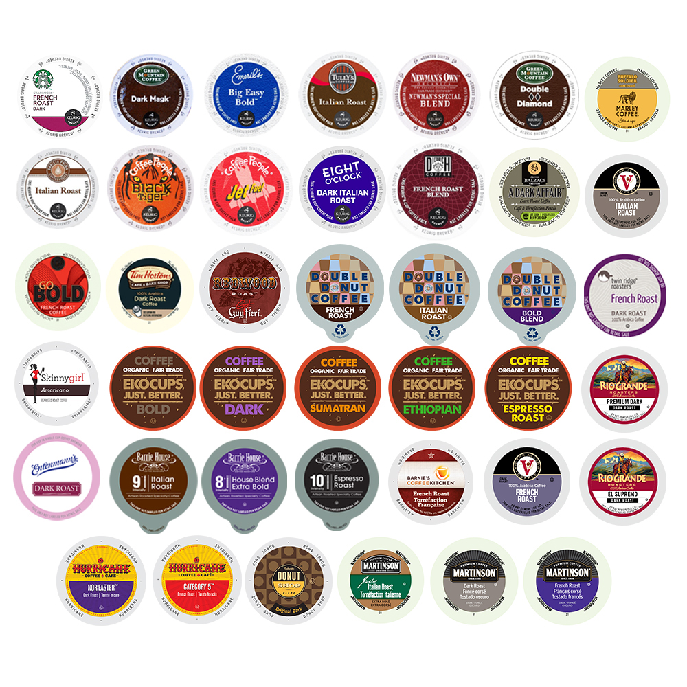 Perfect Samplers Bold Coffee Single Serve Cups Variety Pack Sampler, 40 Ct