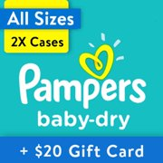 Buy 2, Get $20 Gift Card: Pampers Baby-Dry Diapers, OMS Pack (Choose Your Size)