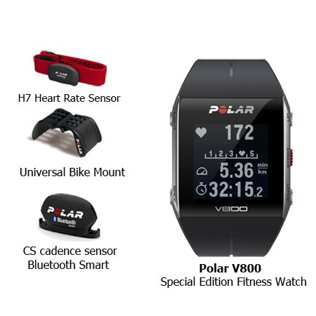 Polar V800 Special Edition Fitness Watch w GPS & HRM Black