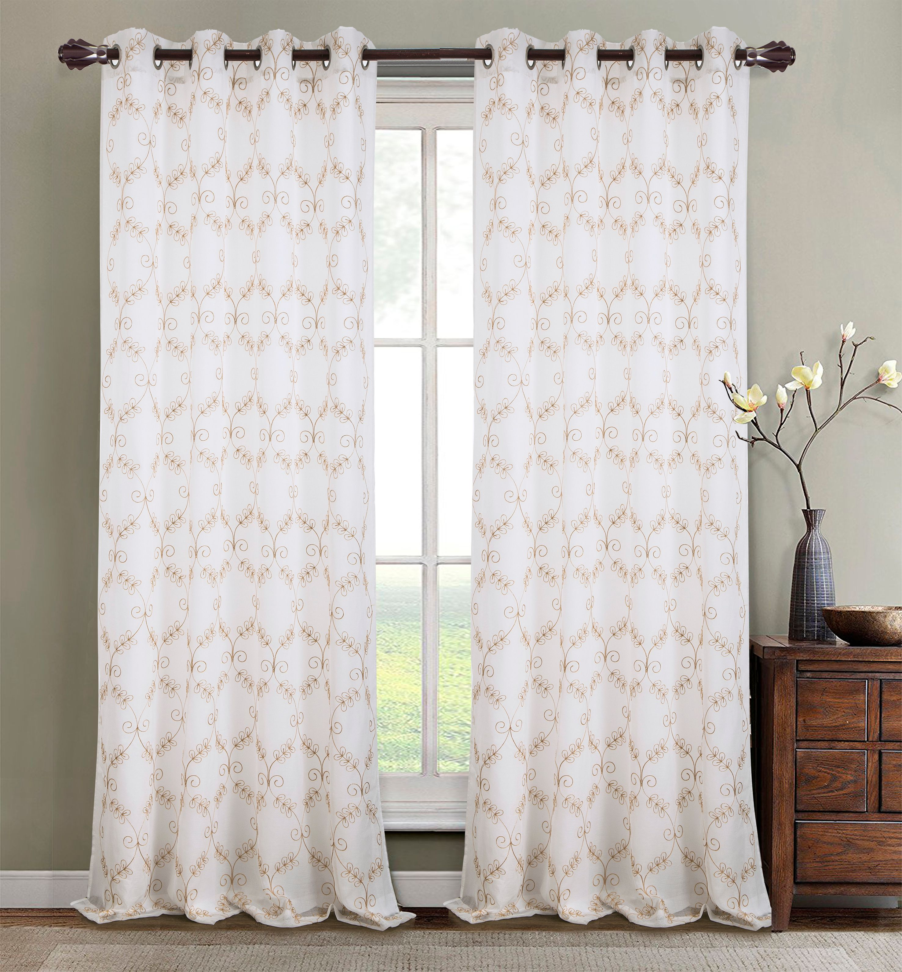 Lined Grommet Curtain Panel Silver