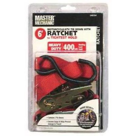 Boxer Tools Master Mechanic 6' Cycle Ratchet Tie Down 1