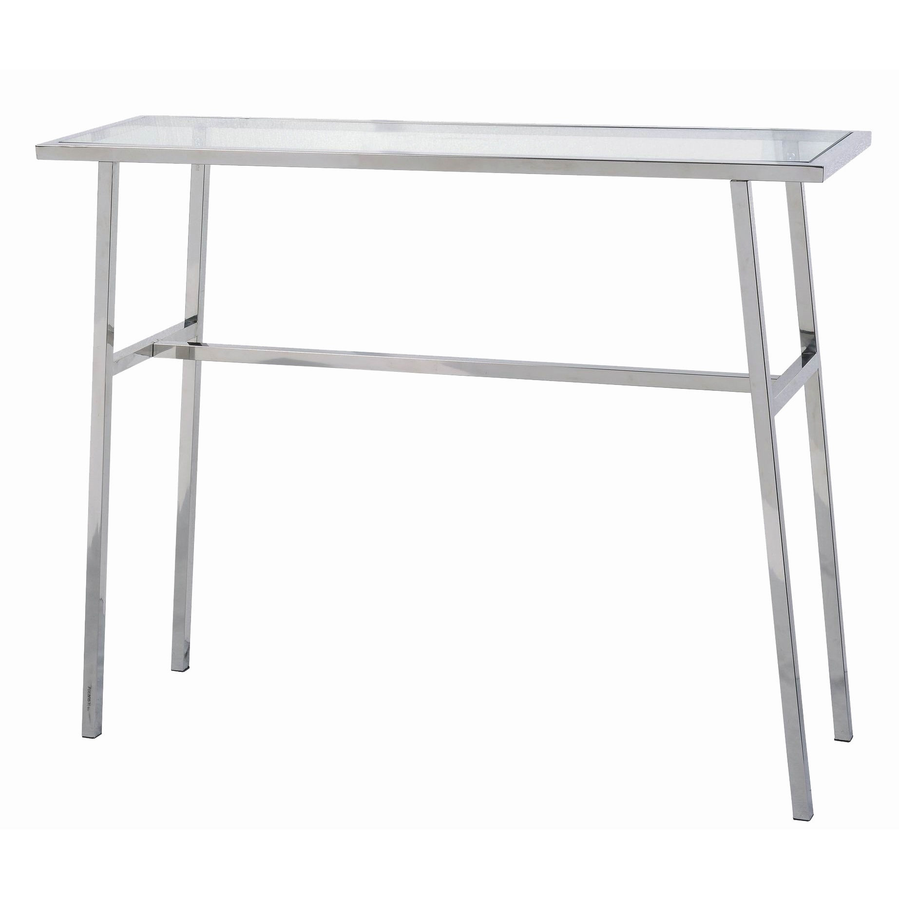 Design Craft Base Minimal Stainless Steel Console Table
