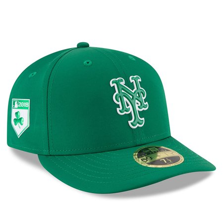 meet 2dd50 75c6b New York Mets New Era 2018 St. Patrick s Day Prolight Low Profile 59FIFTY  Fitted Hat - Green - Walmart.com