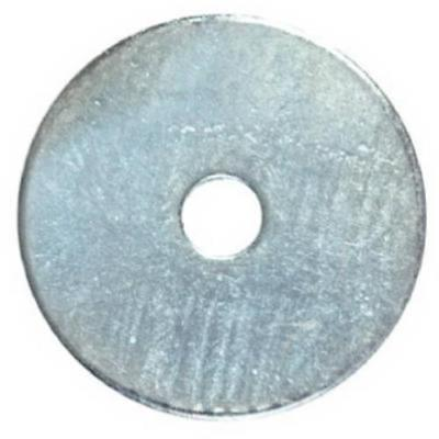 "1/4 x 1"" Zinc Plated Steel Fender Washer Only One"