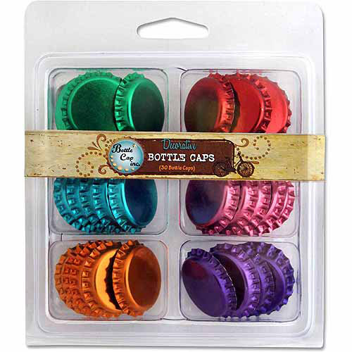 "Bottle Cap Vintage Collection Double Sided Bottle Caps, 1"", 30pk"