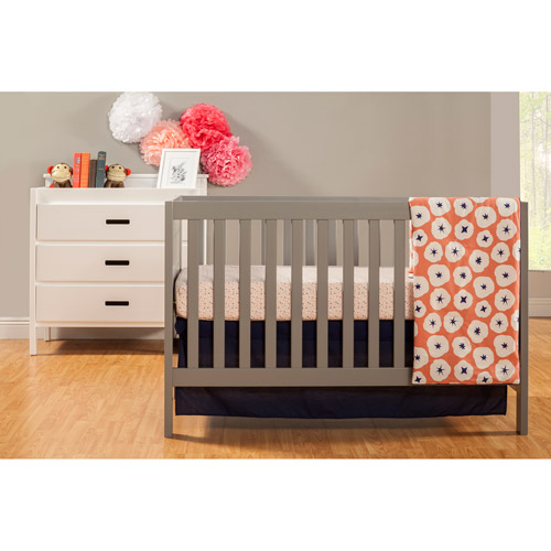 Baby Mod - Modena 3-in-1 Fixed Side Crib and 3-Drawer Changing Table, Choose your Finish