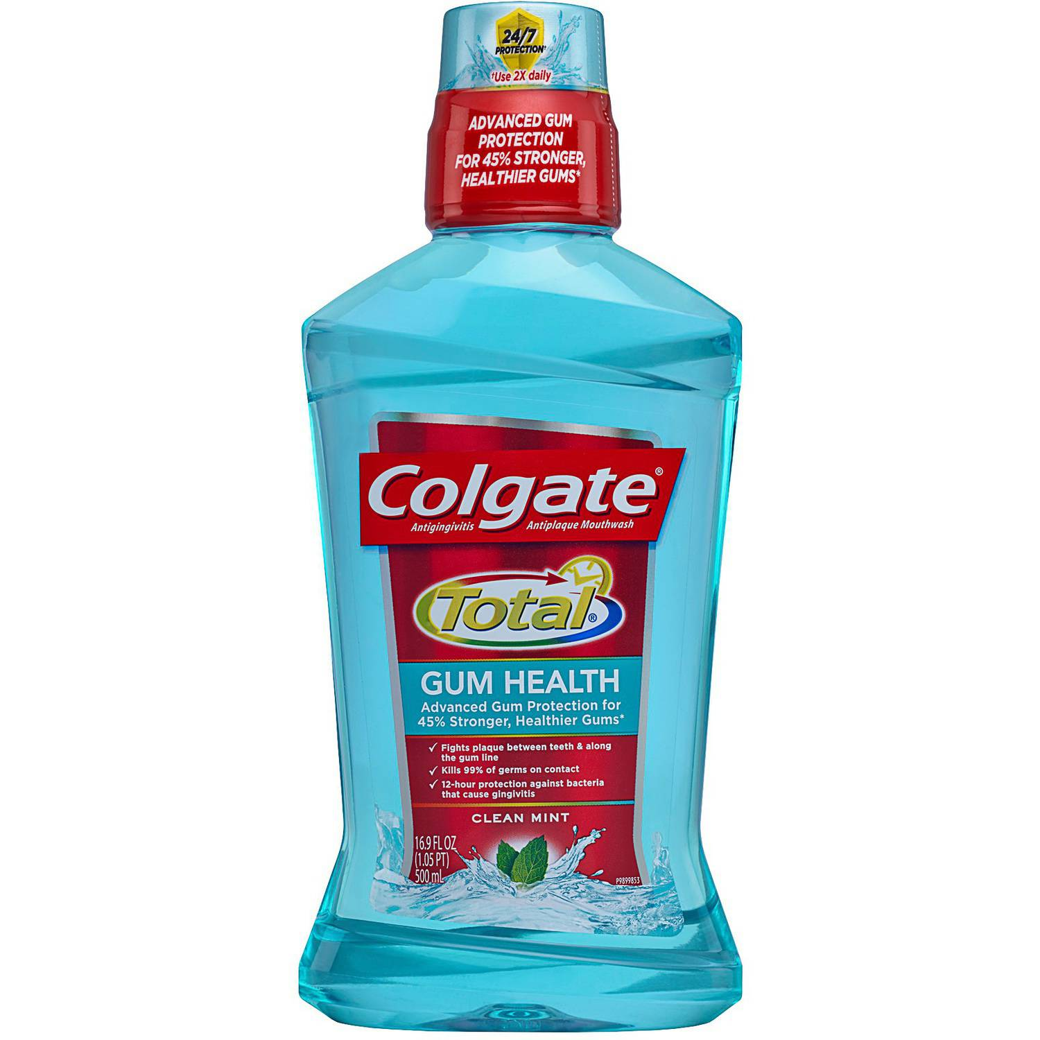 Colgate Total Gum Health Clean Mint Mouthwash, 16.9 fl oz