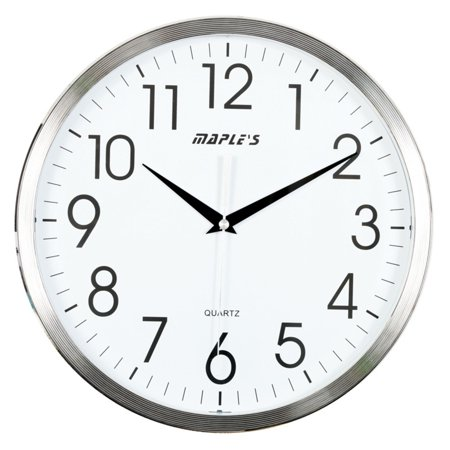 Maples Sales Plastic 13 in. Wall Clock - Chrome