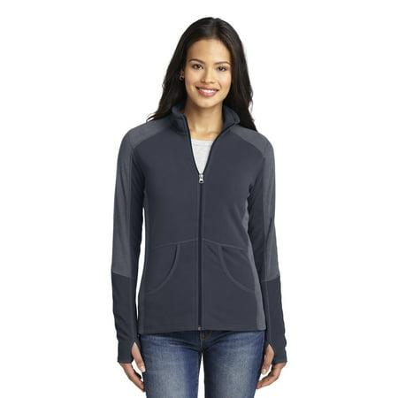 Port Authority Ladies Colorblock Microfleece - Colorblock Microfleece Jacket