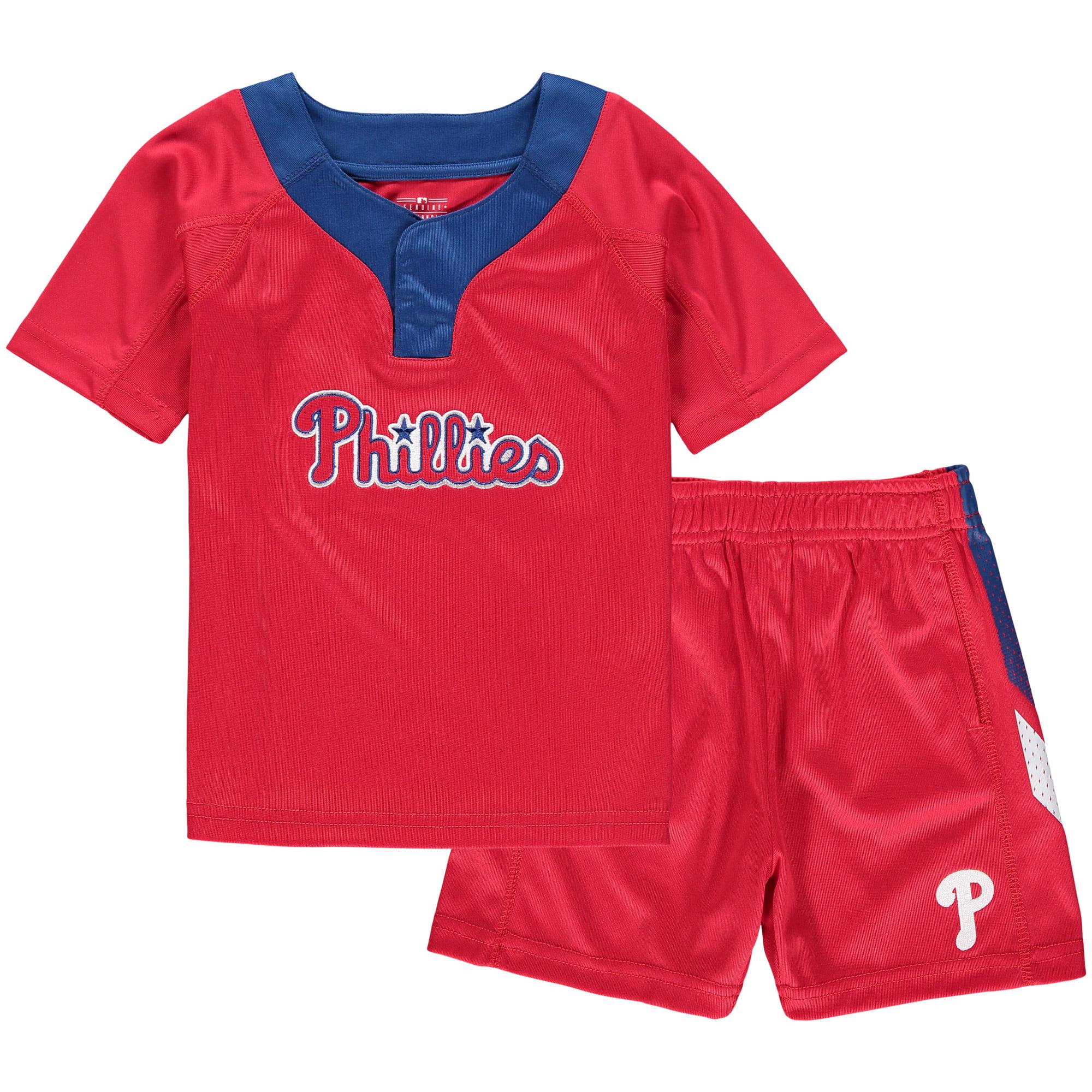 Philadelphia Phillies Toddler Ground Rules T-Shirt & Shorts Set - Red/Royal