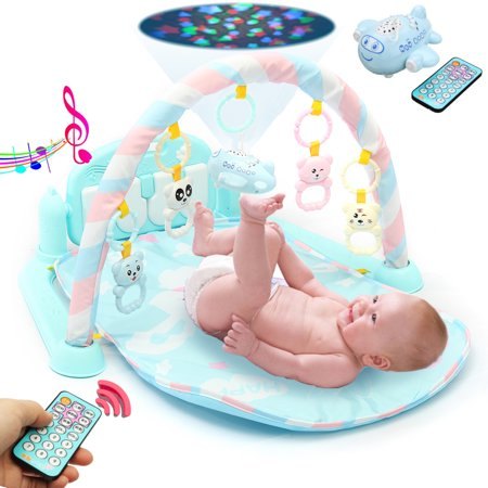 Hip Hop Play Carpet - Baby Play Mat Gym- 3 in1 Newborn Infant Baby Musical Piano Play Mat Blanket Kids Activity Carpet Rug