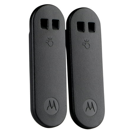Motorola Whistle Belt Clip, Black, Twin Pack