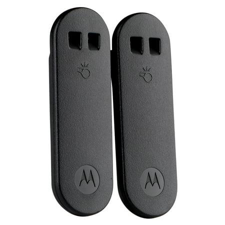 Motorola Whistle Belt Clip, Black, Twin Pack