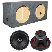"2) Audiopipe TXX-BD3-15 15"" 4800W Car Audio Subwoofers TXXBD315+Sealed Sub Box"