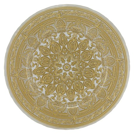 10 Strawberry Street Casablanca Glass Charger - Gold, Set of 6