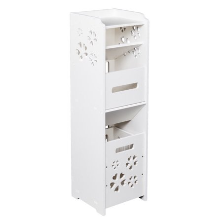 Ktaxon 3-tiers Waterproof Freestanding Slim Bath Cabinet Garbage Can Tissue Dispenser - image 3 de 4