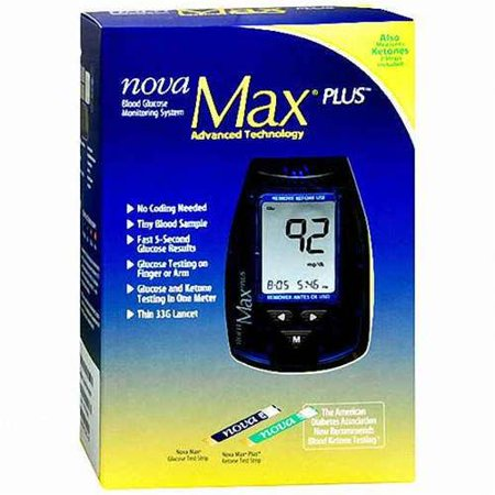 Nova Max Plus Blood Glucose Meter 2 Pack