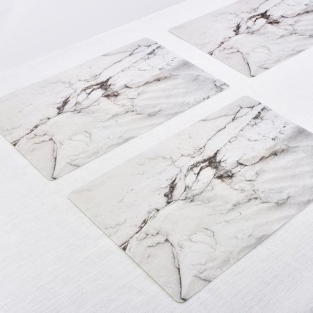 2PCS/SET Marble Pattern Anti-Slip Heat Insulated PVC Dining Table Kitchen Coffee Tea Place Mat Tableware Pad Mat - image 3 of 6