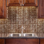 Fasade  Traditional Style #1 Bermuda Bronze 18-inch x 24-inch Backsplash Panel