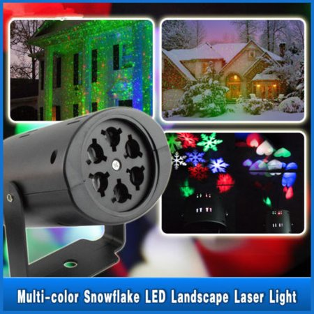 Christmas Projector Light Moving LED Laser Landscape Snowflake Spotlight LED Light for Holiday Christmas Tee Garden Patio Stage Decoration - Christmas Projects For Preschoolers