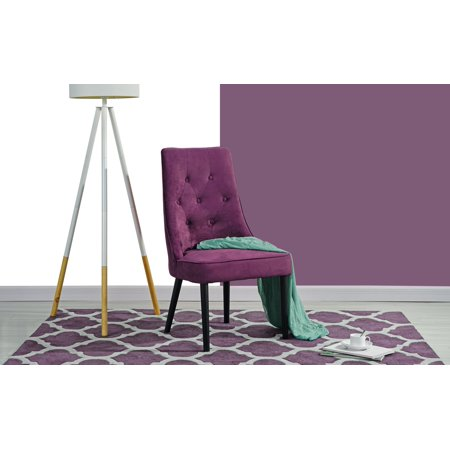 Classic 2 Piece Tufted Button Velvet Dining Chair (Purple) ()