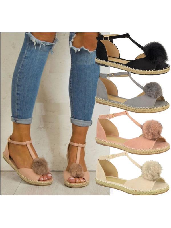Meigar Summer Women Slipper Sandals Espadrilles Flat Shoes
