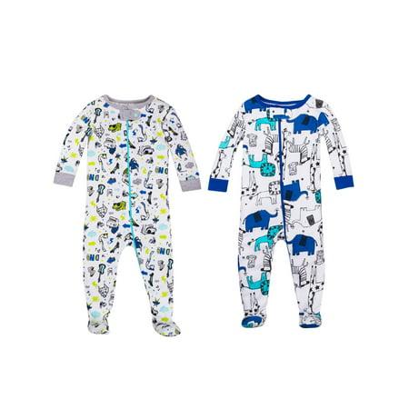 Baby Boy Snug Fit Stretchies Pajamas, 2-pack