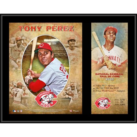 "Tony Perez Cincinnati Reds 12"" x 15"" Hall of Fame Career Profile Sublimated Plaque"