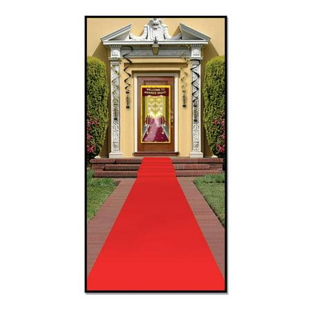 Pack of 6 Awards Night Themed Red Carpet Runner Party Decorations - Red Carpet Themed Decorations