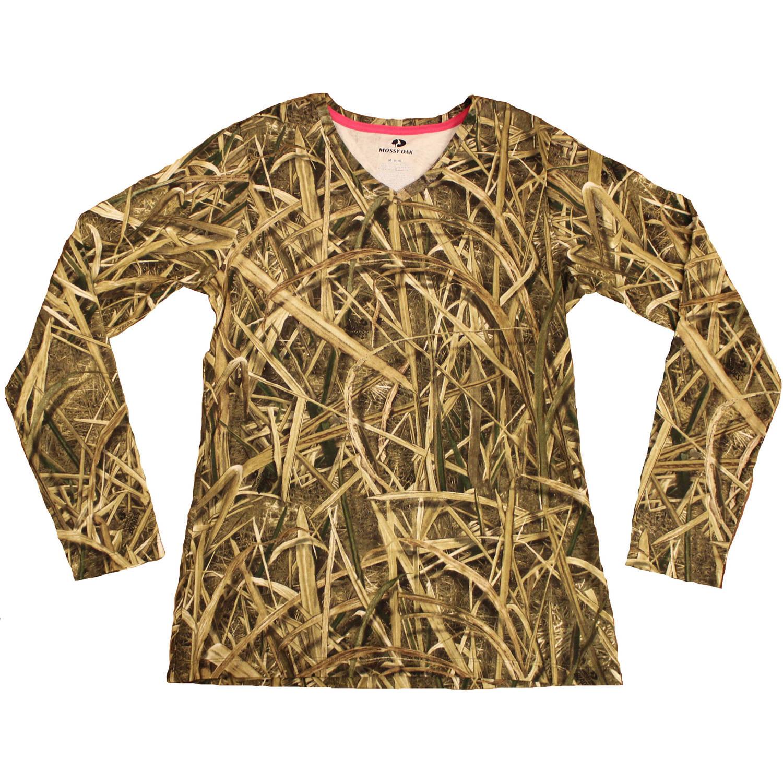 Women's Long Sleeve Camo Tshirt, MO Blades