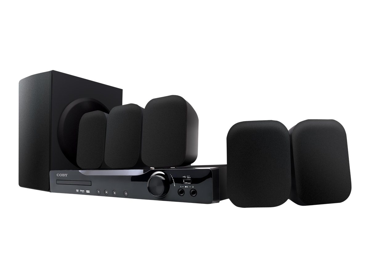 Coby DVD978 5.1 Channel DVD Home Theater System with HDMI Output - Black -  Walmart.com