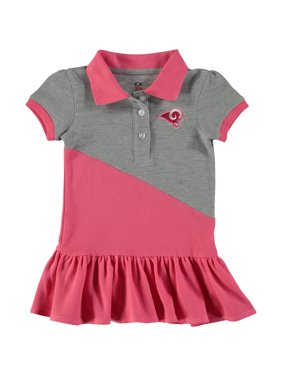 Product Image Los Angeles Rams Girls Toddler Good Sport Polo Dress - Pink cf30474bc