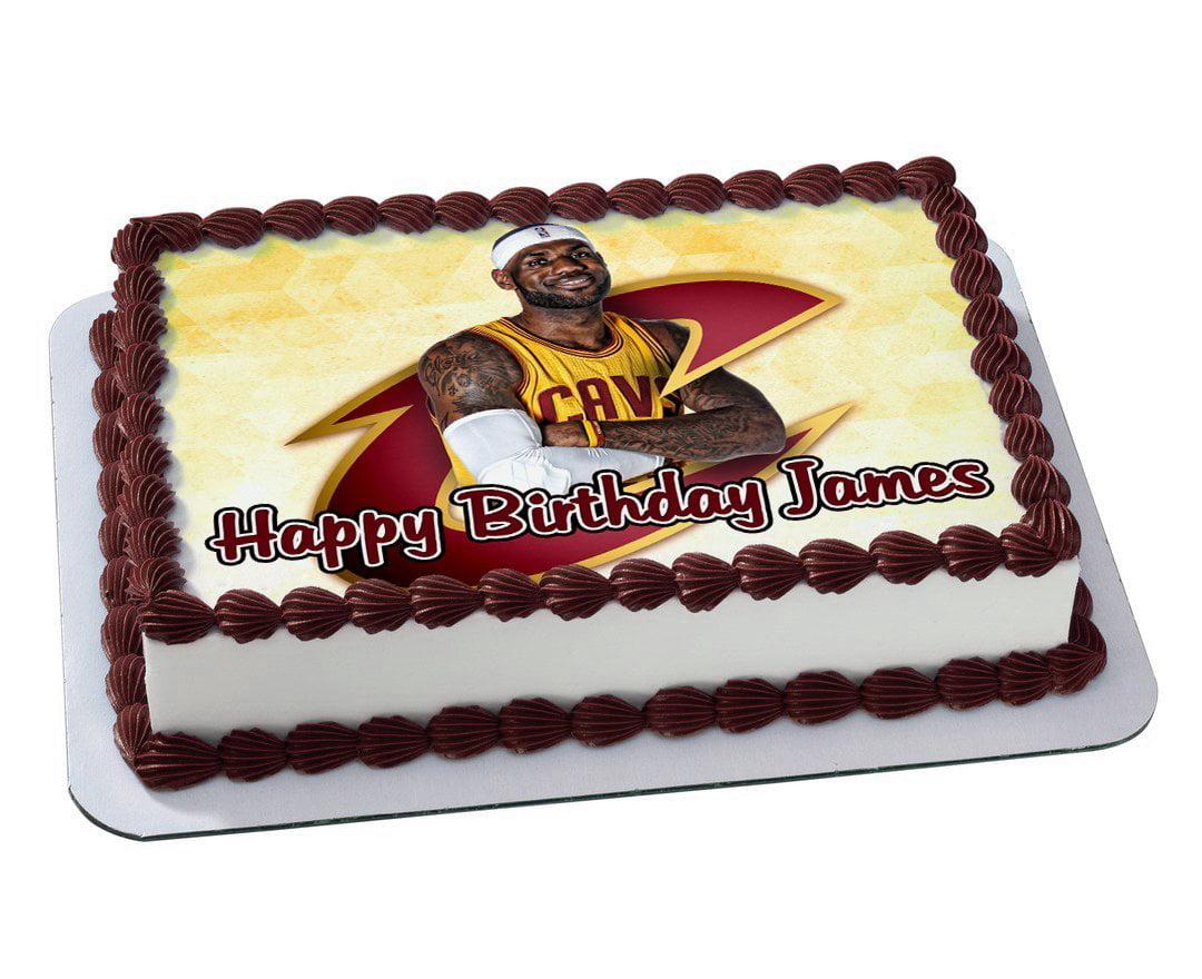 Marvelous Cleaveland Cavaliers Lebron James Quarter Sheet Edible Photo Funny Birthday Cards Online Necthendildamsfinfo
