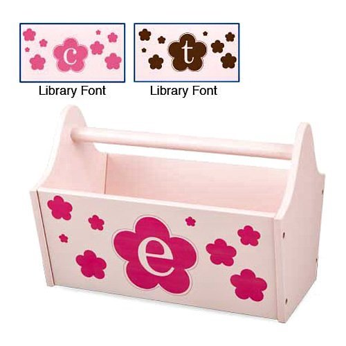 KidKraft Personalized Initial Floral Petal Toy Caddy