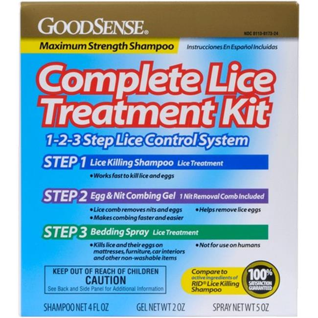 Good Sense Complete Lice Treatment Kit, 3 Pieces - Case of 12