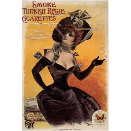 Regie Turkish Cigarettes Vintage Ad Poster Jean De Paleologue France 1895 24X36](Vintage Cigarette Holder)