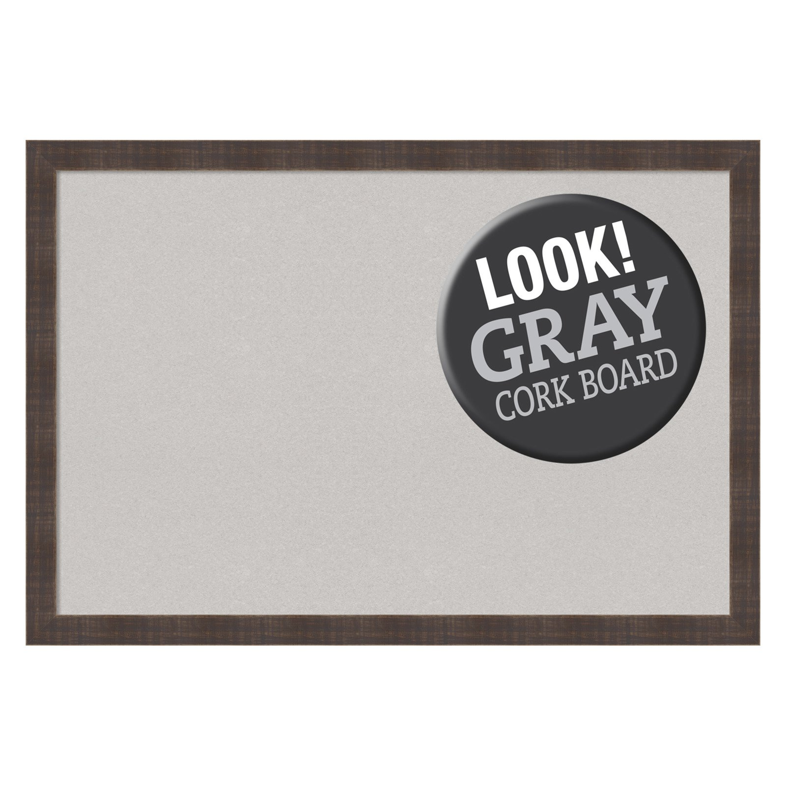 Amanti Art Whiskey Brown Rustic Framed Cork Board