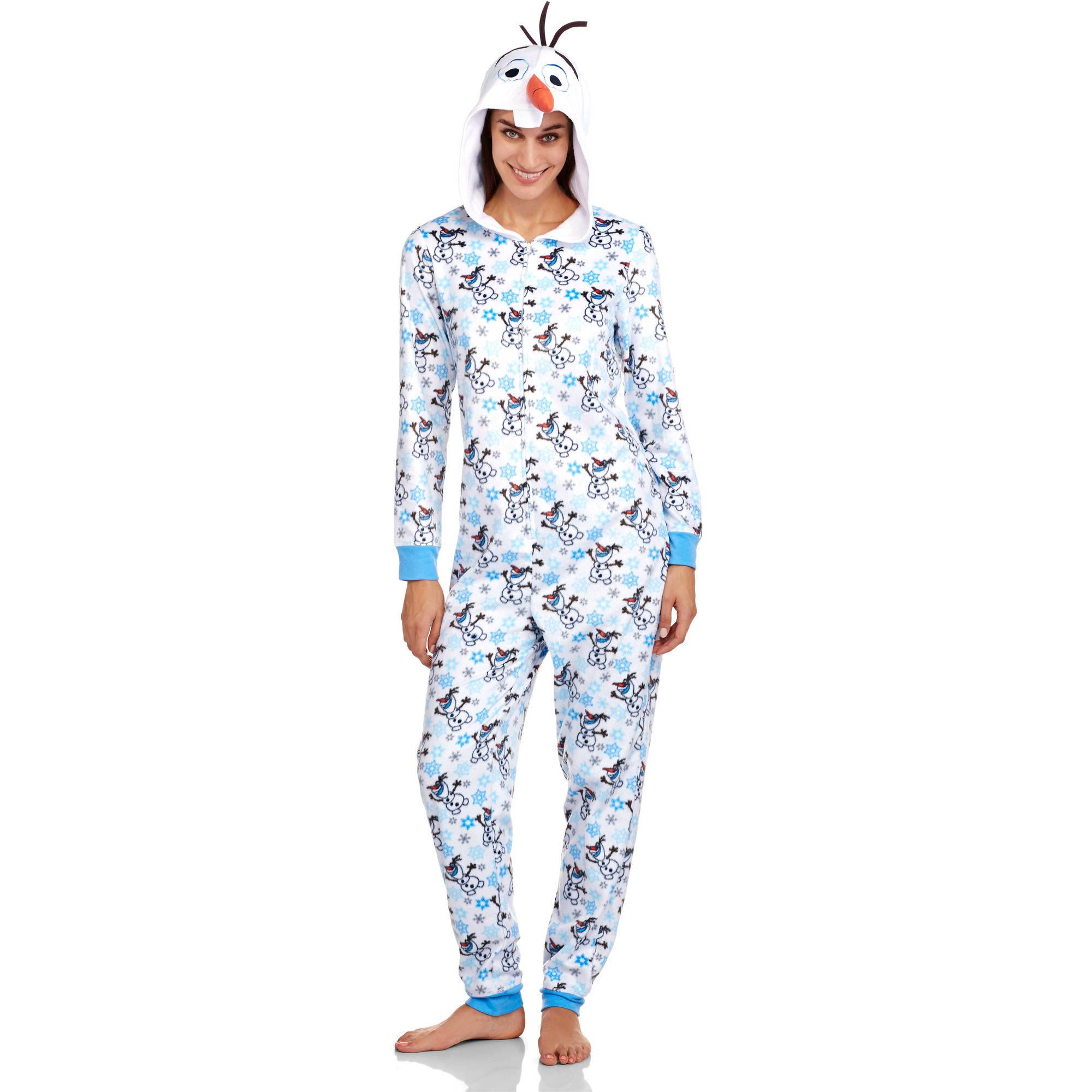 Disney Frozen Olaf Women's One Piece Pajamas (Sizes S-2X ...