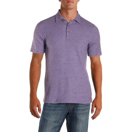 Mens Pique Shirt (IKE By Ike Behar Mens Pique Heathered Polo Shirt)