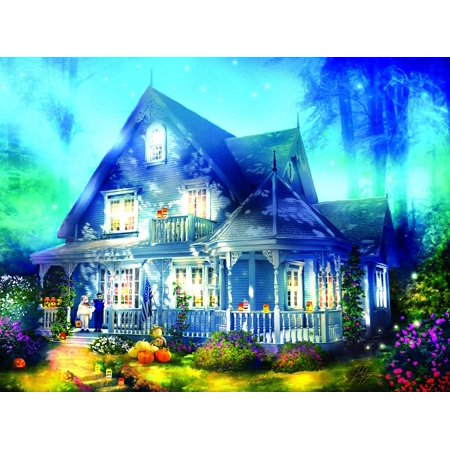 Halloween Lane House 1000 Piece Jigsaw Puzzle by, Halloween Lane House 1000 Piece Jigsaw Puzzle by SunsOut By SunsOut