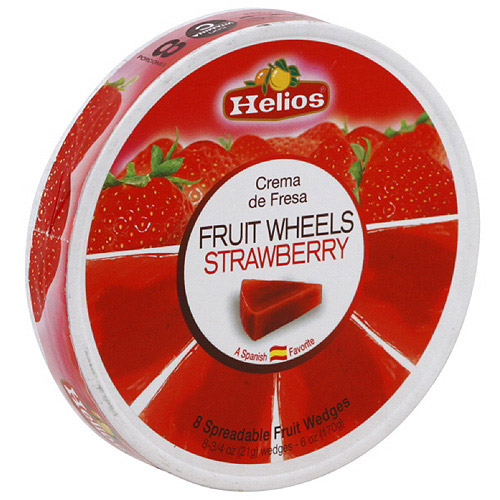 Helios Strawberry Spreadable Fruit Wedges, 6 oz, 8ct (Pack of 12)