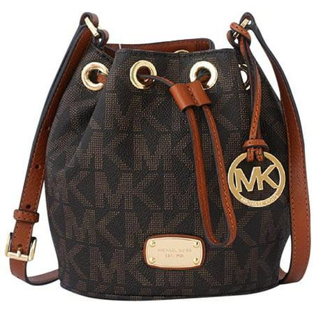 492c9afe18 Michael Kors - Michael Kors Mini Jules Drawstring BROWN Cross Body Bag -  Walmart.com